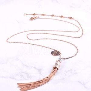 NWOT Henri Bendel Rose Gold Crystal Necklace